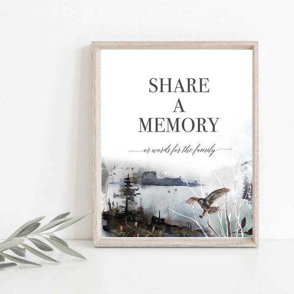 Memorial Share A Memory Poster Wildlife and Nature Theme