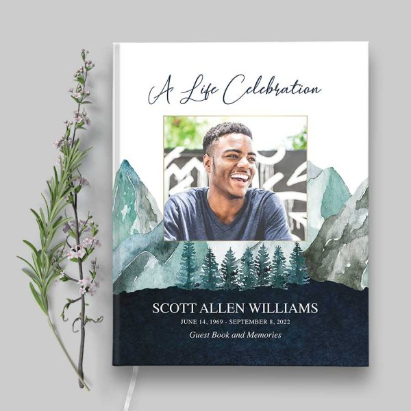 Funeral Guest Books Mountain Theme