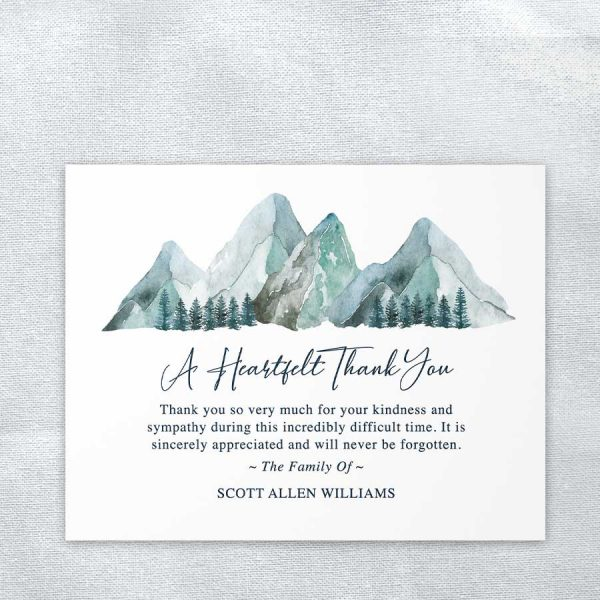 Custom Thank You Cards for A Memorial Service