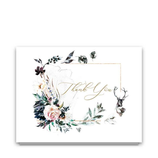 Sympathy Thank You Notes Nature Deer Theme