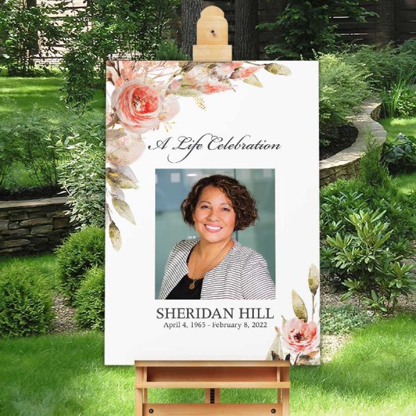 Funeral Welcome Sign with Photo