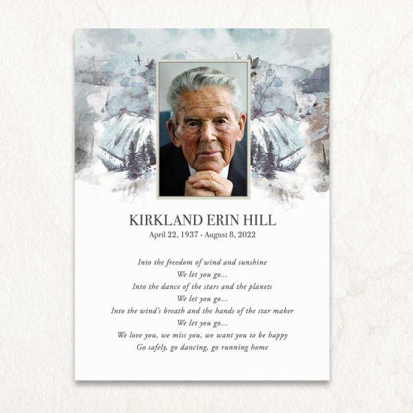 Celebration of Life Keepsake Card