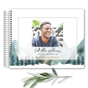 Celebration of Life Guest Book Mountain Theme