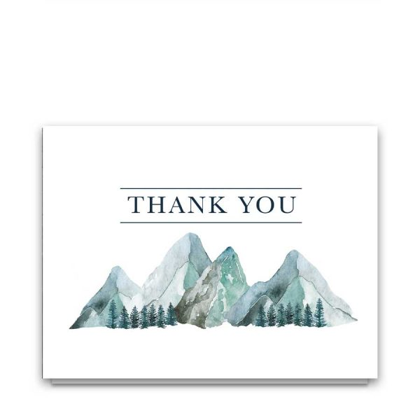 Mountain Celebration of Life Thank You Card