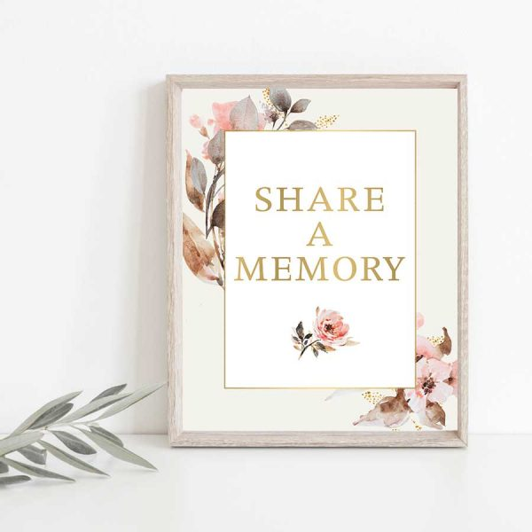 Funeral Decor Share a Memory Signs Memorial Table