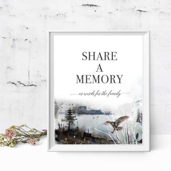 Share a Memory Table Poster for Funerals