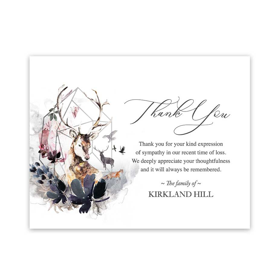Customized Funeral Thank You Note Templates Designed For Your Wording