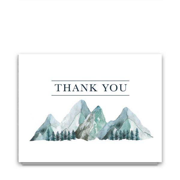 Sympathy Thank You Note Mountain