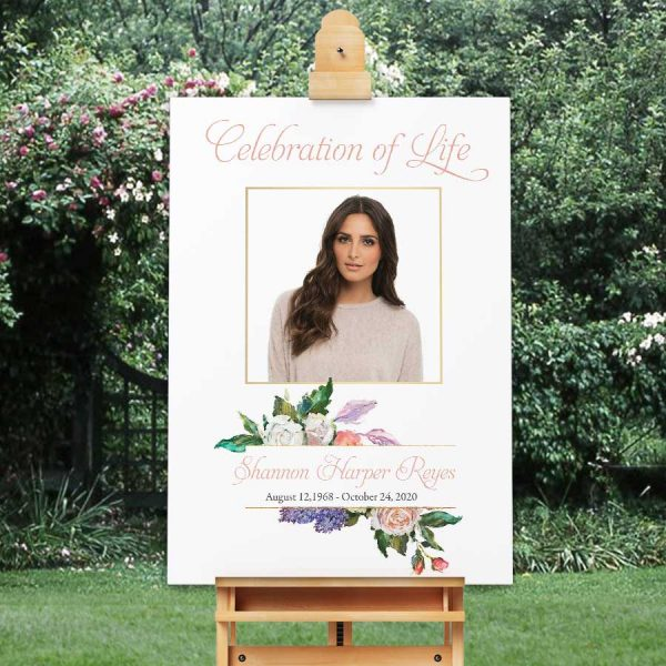 Funeral Poster Welcome Sign