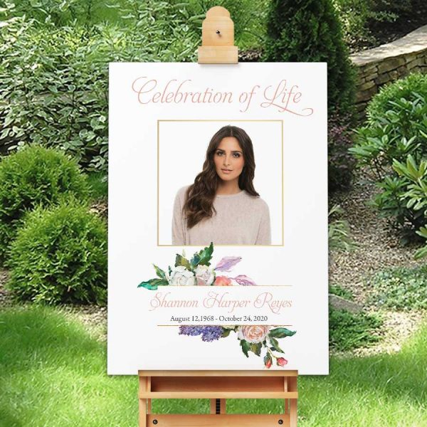 Welcome Sign for A Celebration of Life Memorial