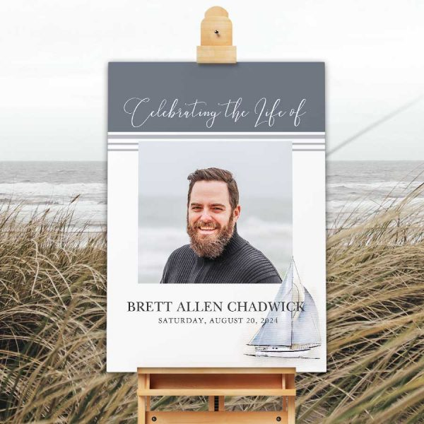 Nautical Funeral Welcome Sign Printable