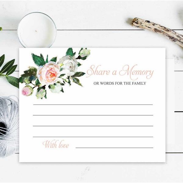 Elegant Share A Memory Cards for a Celebration of Life