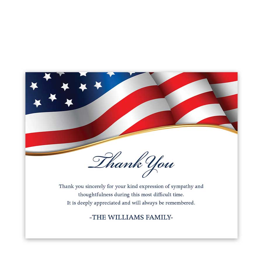 Veteran Thank You Card Military Funeral Template ...