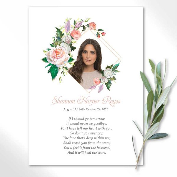Photo Memorial Cards for Funerals