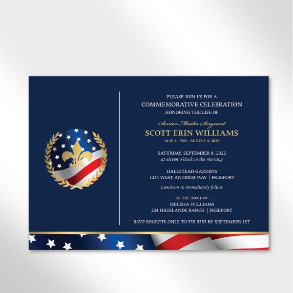 Military Funeral Announcement For A Veteran