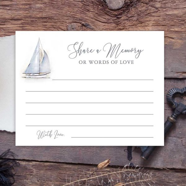 Share A Memory Cards with a Sailboat Theme