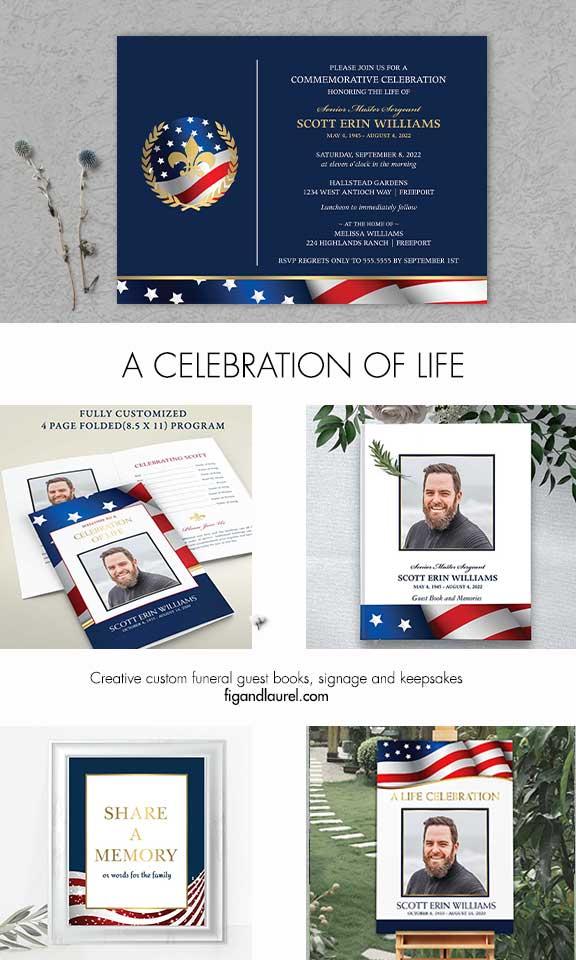 Military Funeral Announcement Veteran Honors
