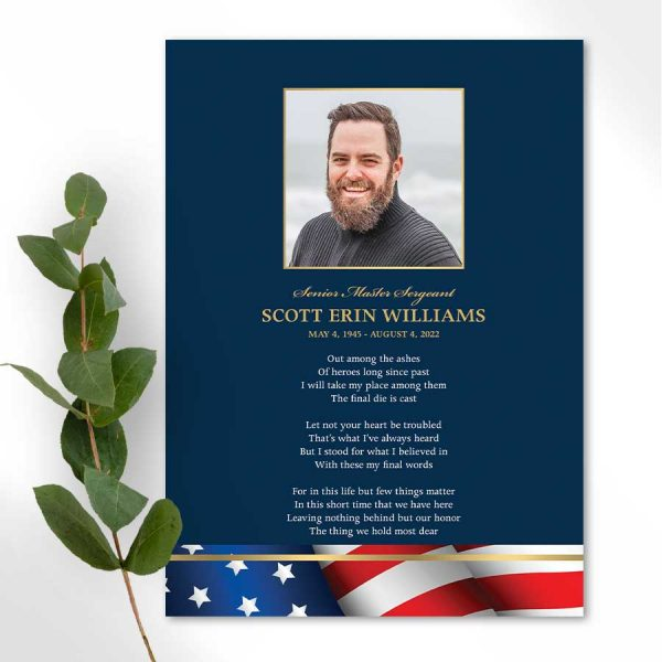 Military Veteran Photo Tribute Card