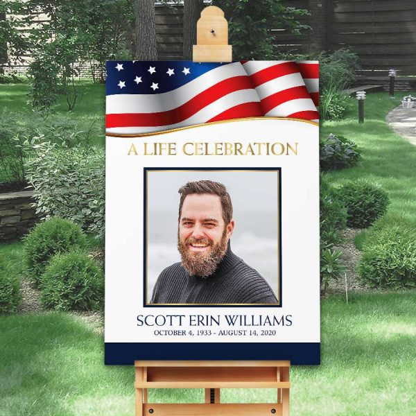 Military Funeral Welcome Sign Template