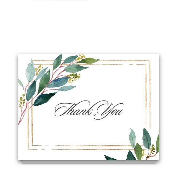 Custom Funeral Card Template for Thank You Notes
