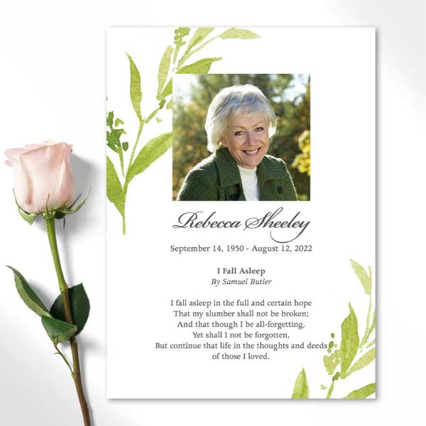 Photo Memorial Cards for A Funeral