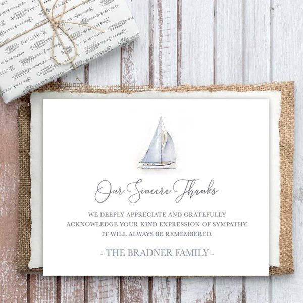 Customized Thank You Cards For Funerals