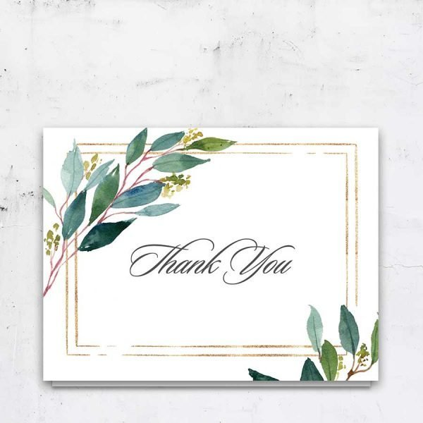 Folded Funeral Thank You Notes