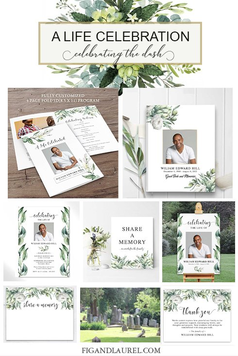 Digital Format Funeral Invitation Printable