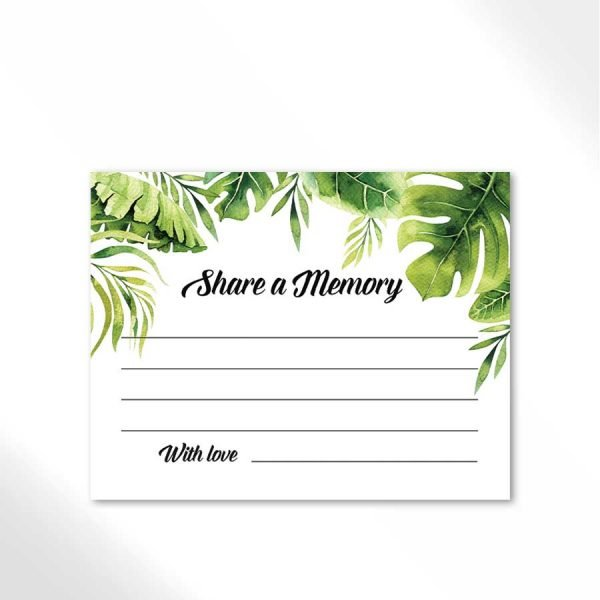 Palm Leaves Funeral Memory Cards