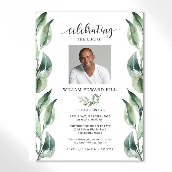 Celebration of Life Printable