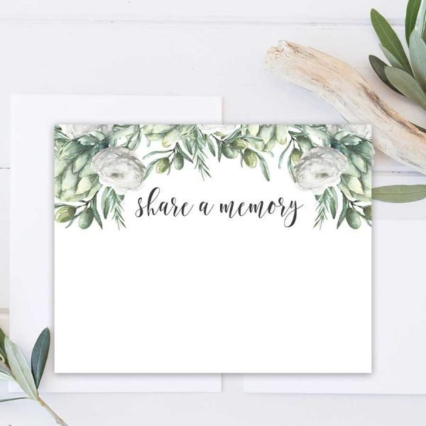 Funeral Cards for Sharing Favorite Memories