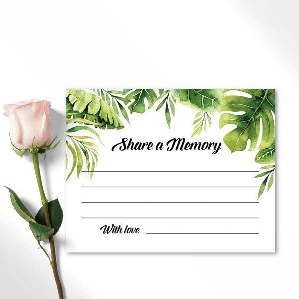 Funeral Favorite Memory Card Tropical Template