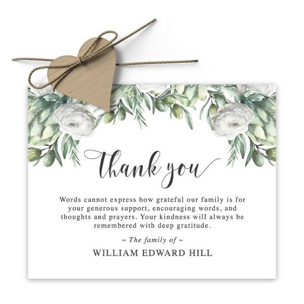 Thank You Card Funeral Template