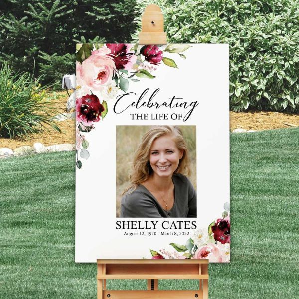 Celebration of Life Poster Welcome Sign