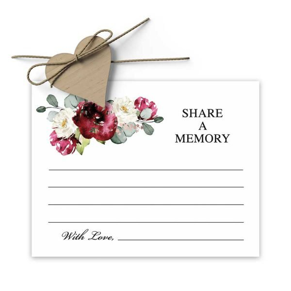 Share a Memory Cards for Funeral