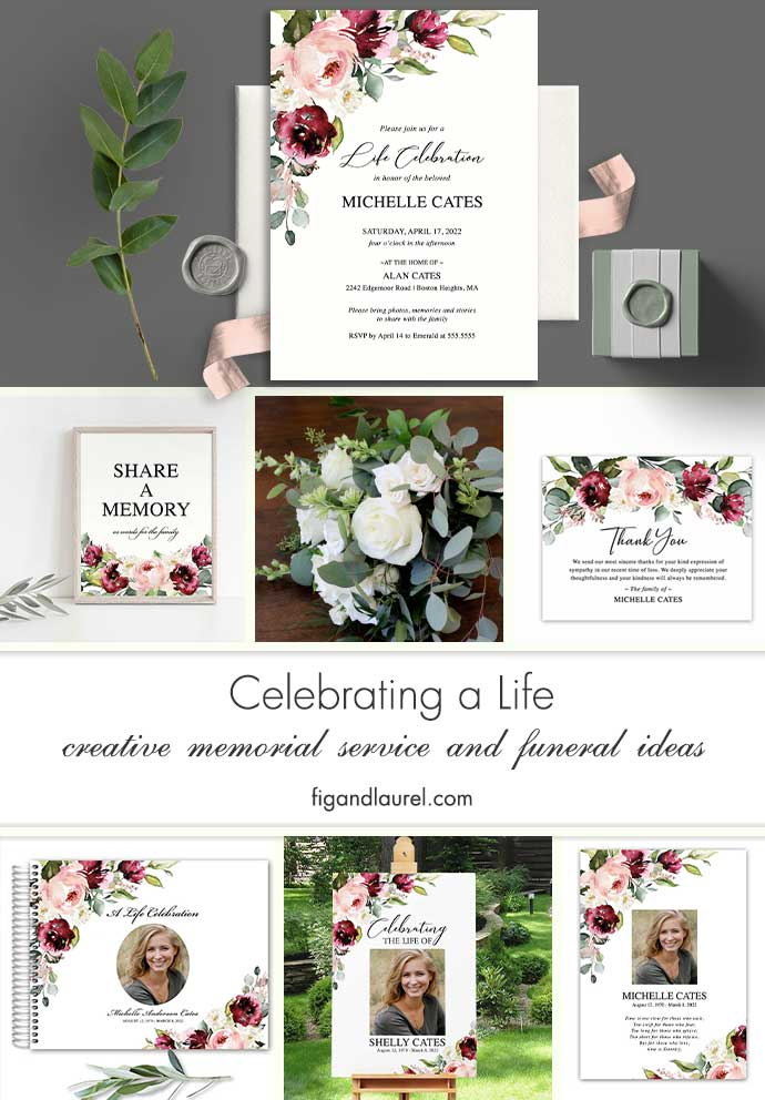Funeral Invitation Template Printable Floral