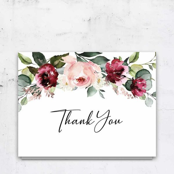 Memorial Thank You Cards With Flowers