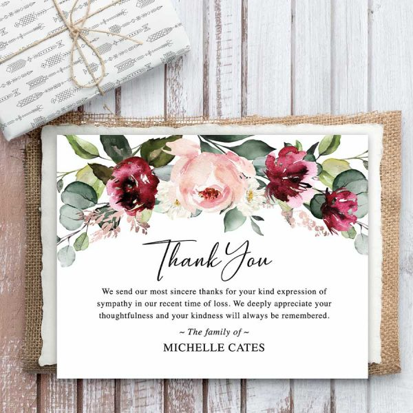 Floral Bereavement Funeral Cards