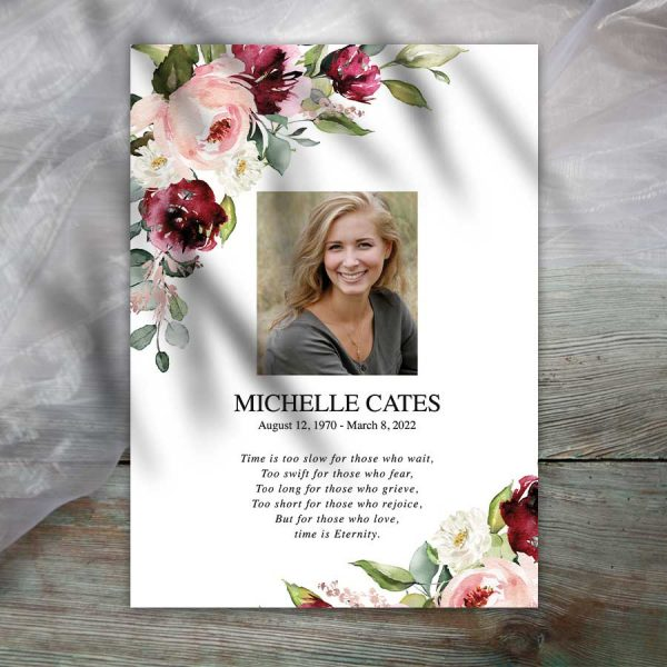 Funeral Keepsake Memorial Cards