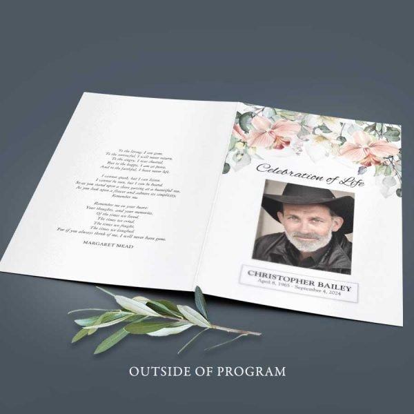 Celebration of Life Keepsake Funeral Program