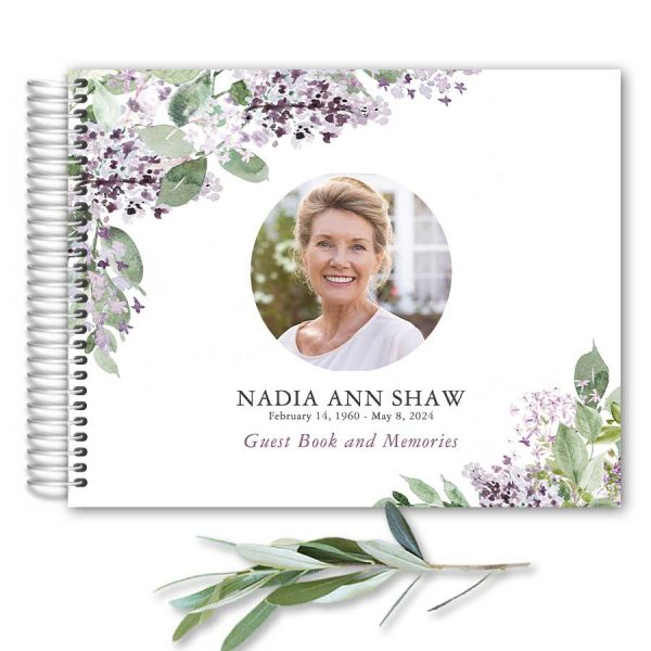 Funeral Guest Books with Photo