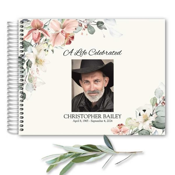 Funeral Guest Book Customized For You