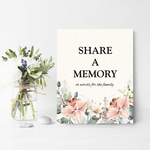 Celebration of Life Memory Table Sign