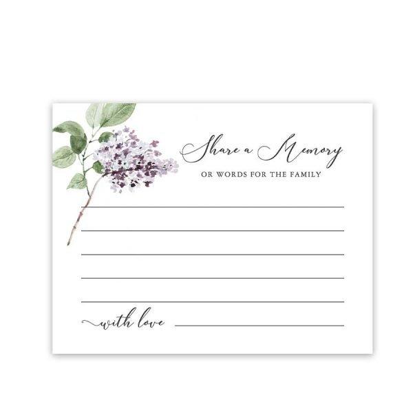 Memorial Favorite Memory Cards
