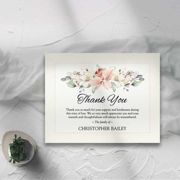 Floral Bereavement Memorial Cards