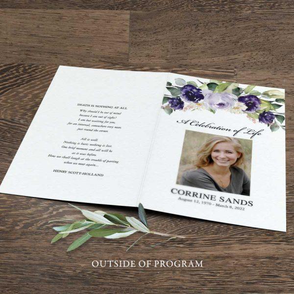 Memorial Service Pamphlet Program Outline