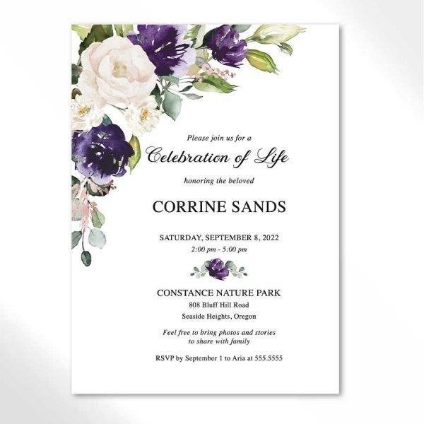 Funeral Invitation Digital Template