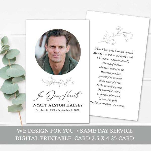 In Loving Memory Cards Printable Template