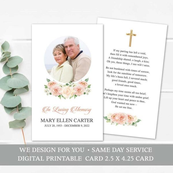 Printable Funeral Mass Card