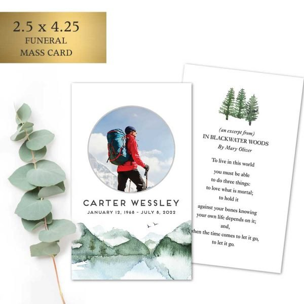 Outdoorsman Funeral Tribute Cards